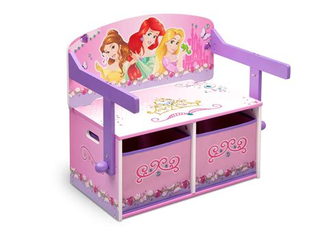 princess storage bench princess 3 in 1 storage bench and desk delta children eu pim