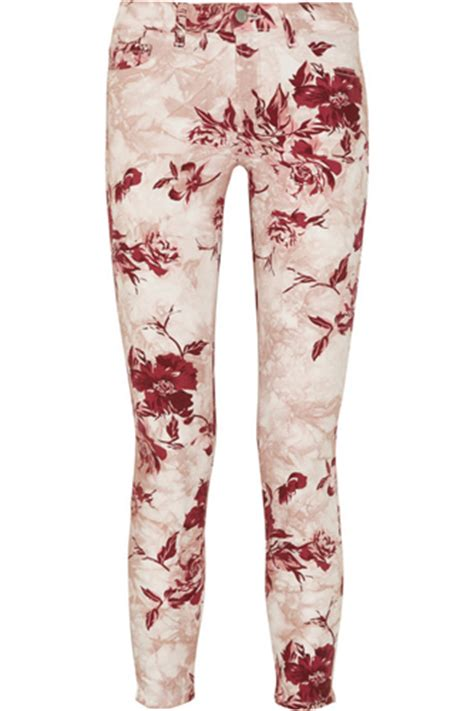 patterned jeans trend j brand denim printed skinny jeans 8 of this season s best