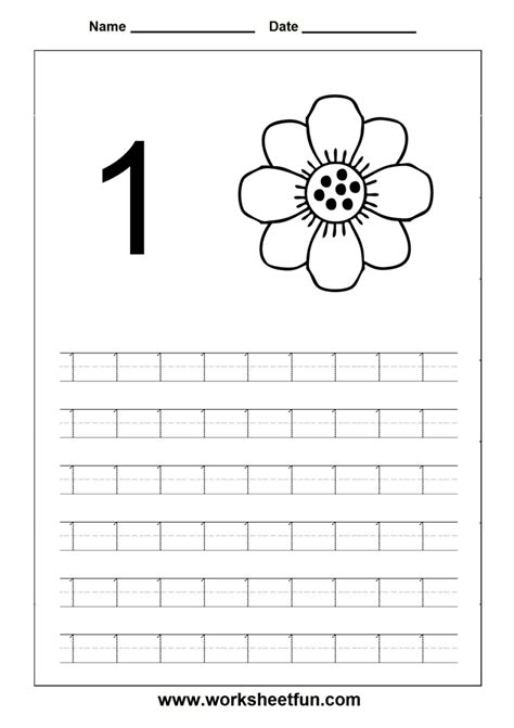 free printable kindergarten numbers preschool worksheets line tracing free printable