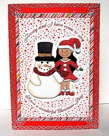 letter to santa frosty and friend card cup263206 601 craftsuprint 1448