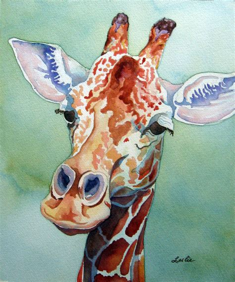 animal painting free giraffe leslie white