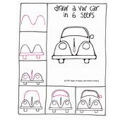 Draw A VW Beetle Car In 6 Steps  Learn To
