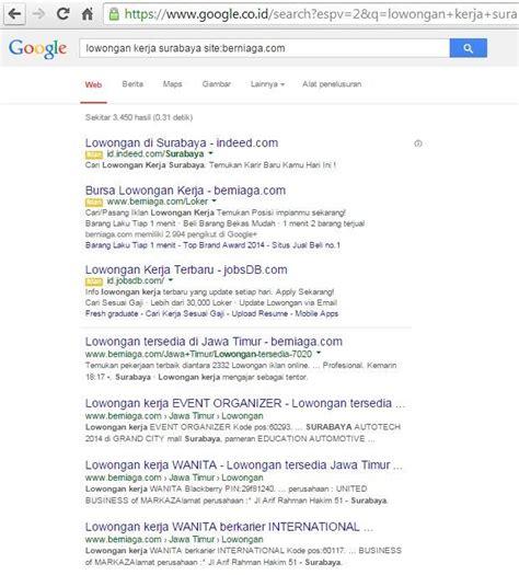 cara membuat website lowongan kerja tips cara cari quot lowongan kerja quot terbaru di internet google