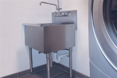 stainless steel laundry sink with legs a line by advance tabco 174 professional stainless steel
