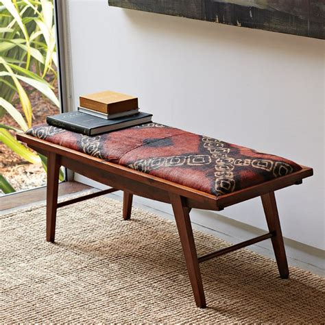 west elm bench accent table austin interior design by room fu knockout interiors