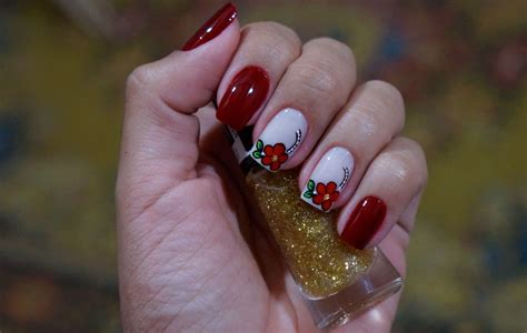imagenes navideñas simples bela e simples nail art unhas decoradas irm 227 s g 234 meas flores