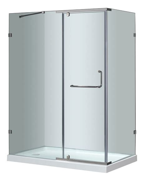 Semi Frameless Shower Door Cost by Aston Large Semi Frameless Hinge Door Shower Enclosure