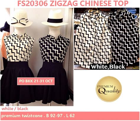 Supplier Baju Zigzag Top Hq zigzag top supplier baju bangkok korea dan hongkong premium quality import thailand