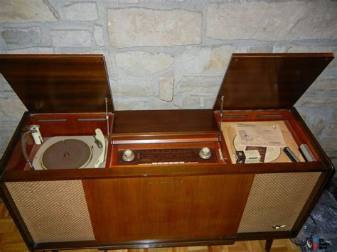 vintage stereo cabinet with turntable vintage console stereos