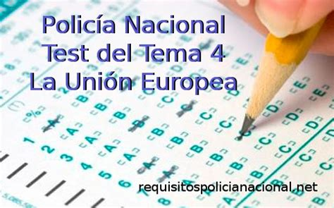 test unione europea test tema 4 la uni 243 n europea requisitos polic 237 a
