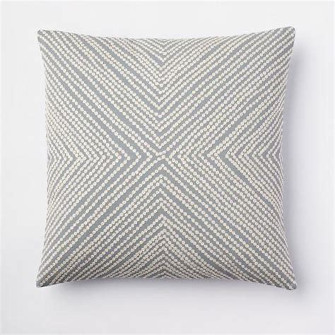 west elm pillows dot crewel pillow cover dusty blue west elm