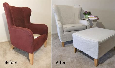 how to make a slipcover for a wing chair summer slipcover for wingback chair ottoman the