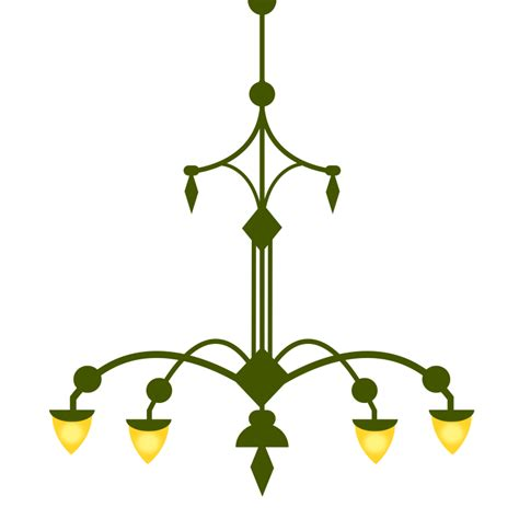 clipart ornate chandelier with 4 ls version 1