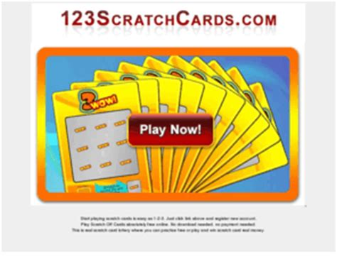 Free Online Scratch Off Tickets Win Real Money - 123scratchcards com scratch cards play online free scratch off cards on your computer