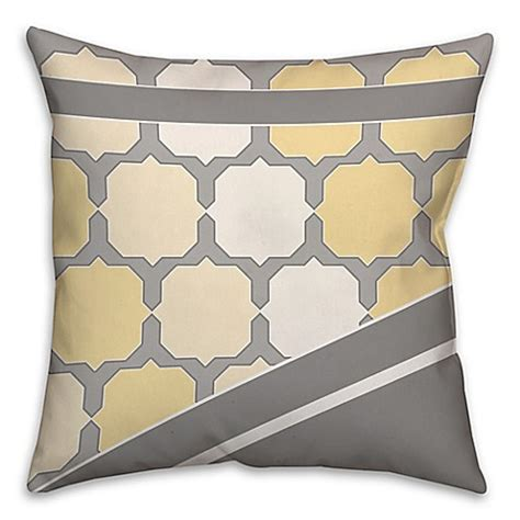 square bed pillows buy jagged octagon pattern square throw pillow in yellow