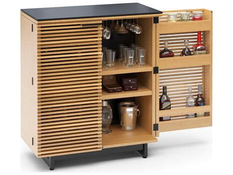 Compact Bar Cabinet Bdi Corridor 36 X 18 5 White Oak Compact Bar Cabinet Bdi5620wok