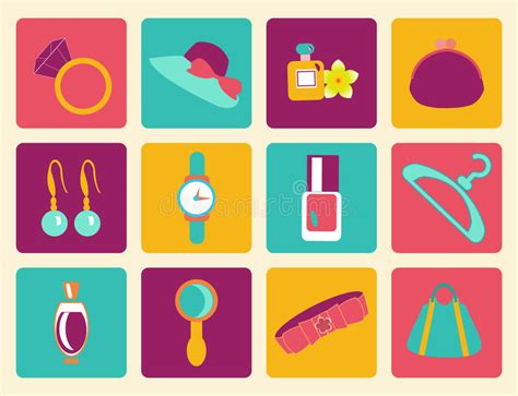retro icons 20 free sets for vintage themed designs accessories fashion icon stock vector image 39035260
