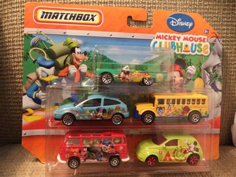 A2 0189 Mainan Diecast Wheels Matchbox Second matchbox 5 car set disney mickey mouse clubhouse new