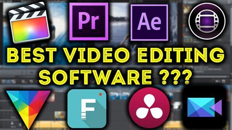 Best Video Editing Software For Pro & Beginners !!   YouTube