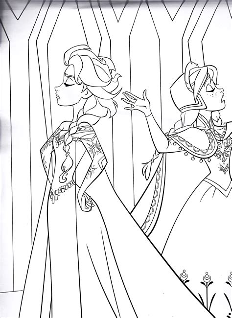 queen elsa and princess anna coloring pages walt disney characters images walt disney coloring pages