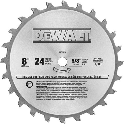dewalt table saw dado blade dewalt dw7670 8 inch 24 tooth stacked dado set import it all