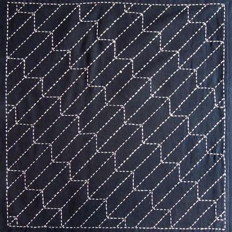 pin up pattern fabric japanese sashiko fabric yabane arrow panel number 209