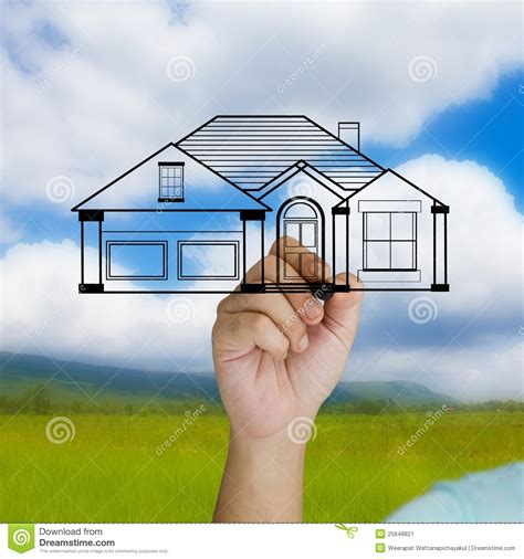 dreaming of a house dreaming house stock image image 25848821