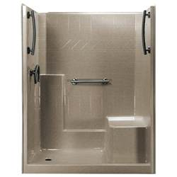 ella 60 in x 33 in x 77 in 1 low threshold shower
