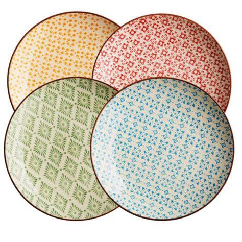 teller modern keramik teller set 4 tlg gemustert kuechenteller geschirr