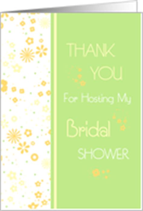 thank you for hosting bridal shower wording thank you cards for bridal shower host hostess from greeting card universe