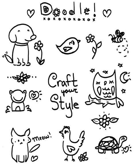 for doodle template craft your style