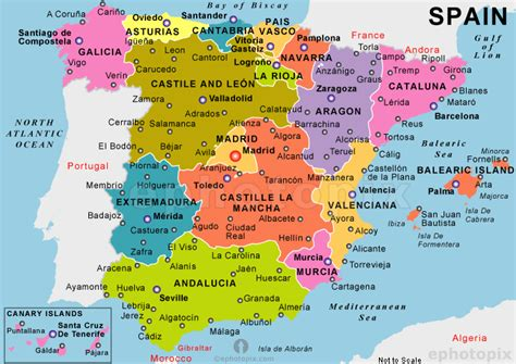 map spain map of spain travelquaz