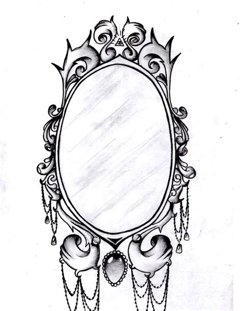 pattern frame drawing frame tattoo designs mirror frame by aimstar designs