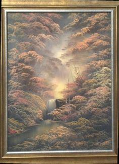 bob ross paintings for sale pbs bob ross tribute painting sepia waterfall by sfx by