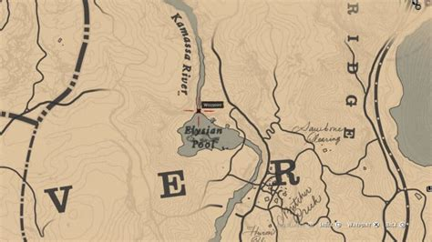Sketched Map Rdr2 by Sketched Map Treasure Hunt Guide Dead Redemption 2