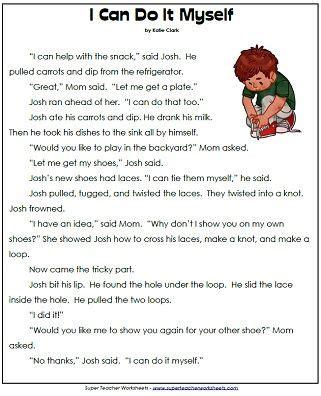 Reading Comprehension Worksheets For 1st Grade by 1st Grade Reading Comprehension Worksheets Amish