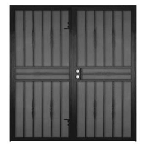 Security Patio Doors Home Depot by Unique Home Designs Black Sliding Security Door At