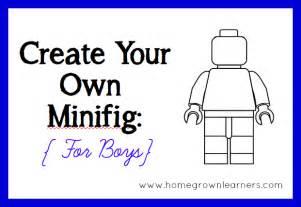 create lego minifigures printables boys amp girls homegrown learners