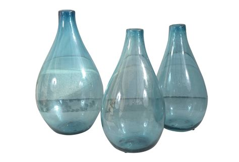 foyer colette yver rouen blue glass vases for centerpieces aqua blue blown
