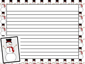 snowman writing paper printable freebie snowman writing paper tpt free lessons