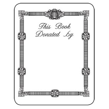 Bookplates Laser Inkjet Bookplates This Book Donated By 150 Pkg Book Donation Template