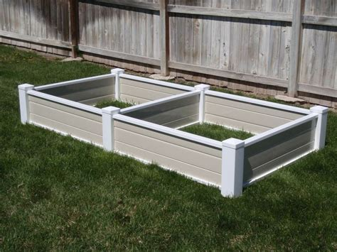Vinyl Raised Garden Beds by Vinyl Raised Bed Garden Planters House And Home