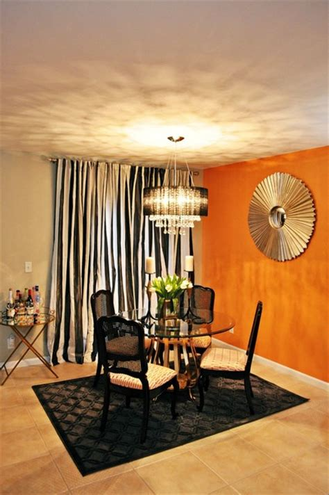 vintage glam living  dining room eclectic dining