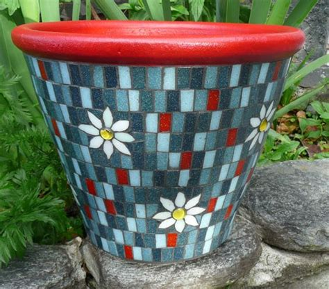 very cool and funky bright coloured mosaic planter with very cool and funky bright coloured mosaic planters with a
