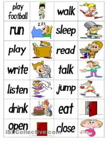 verb dominoes speech therapy verbs