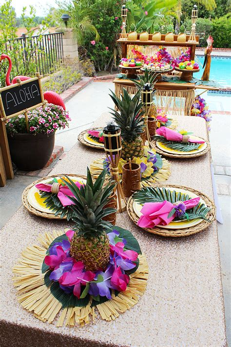 tropical decoration throw a tropical luau