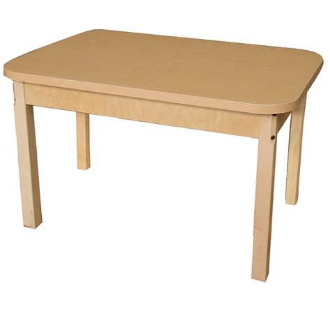 wood designs wd83426 rectangle hardwood table wood designs activity table w hardwood legs 24 quot x 48