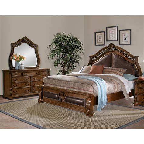 value city king bedroom sets morocco 5 piece king bedroom set pecan value city