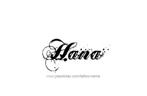 hana name tattoo designs