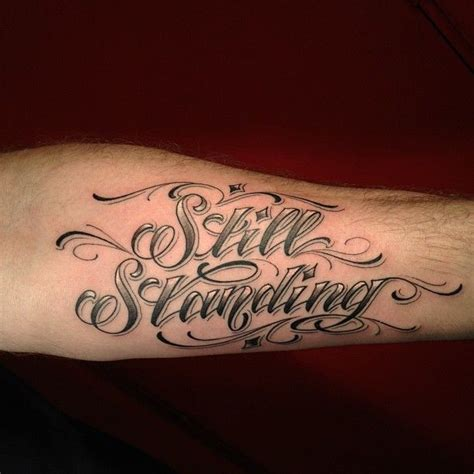 tattoo lettering in color love the color fade if this lettering and script style